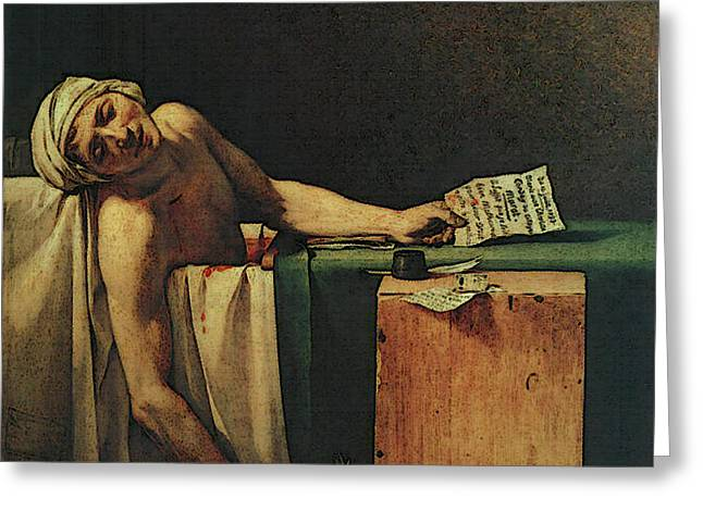 The Death Of Marat  Greeting Card
