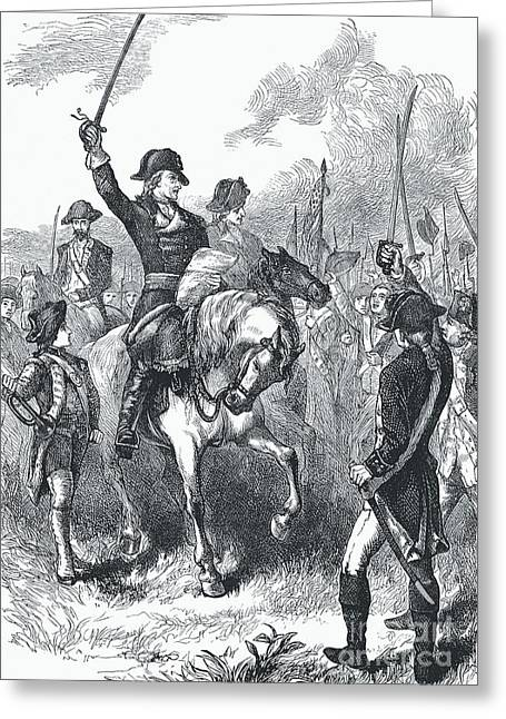 The Declaration Of Independence Read To The Army  Greeting Card by English School
