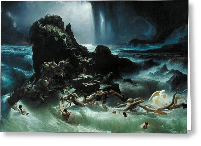 The Deluge Greeting Card by Francis Danby