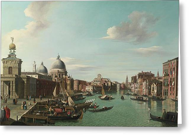 The Entrance To The Grand Canal Looking Wes Greeting Card