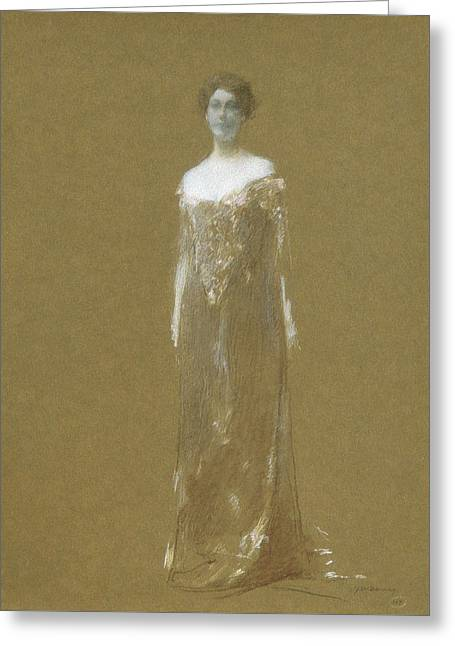 The Evening Dress Greeting Card by Thomas Wilmer