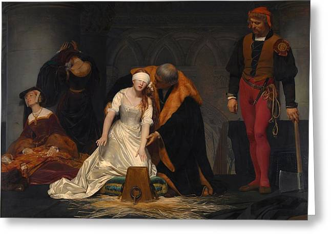 The Execution Of Lady Jane Grey Greeting Card by Paul Delaroche