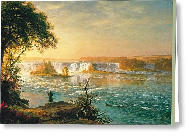 The Falls Of Saint Anthony Greeting Card by Albert Bierstadt