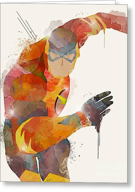 The Flash Greeting Card by Bri B