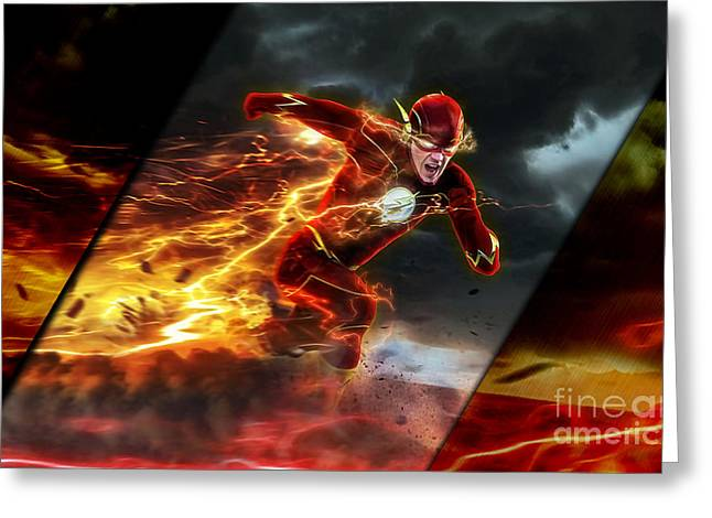 The Flash Collection Greeting Card by Marvin Blaine