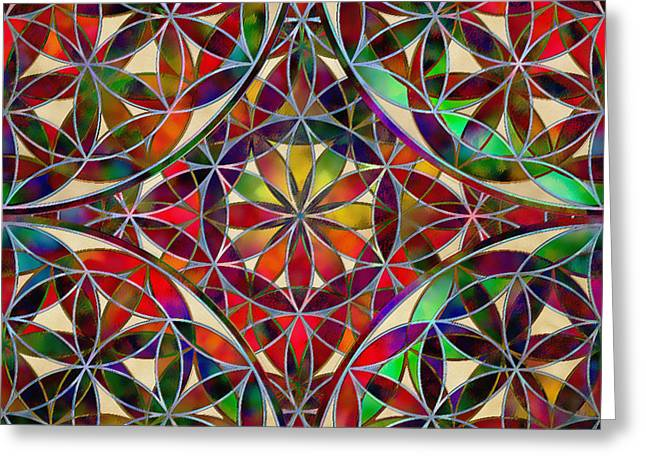 The Flower Of Life Greeting Card