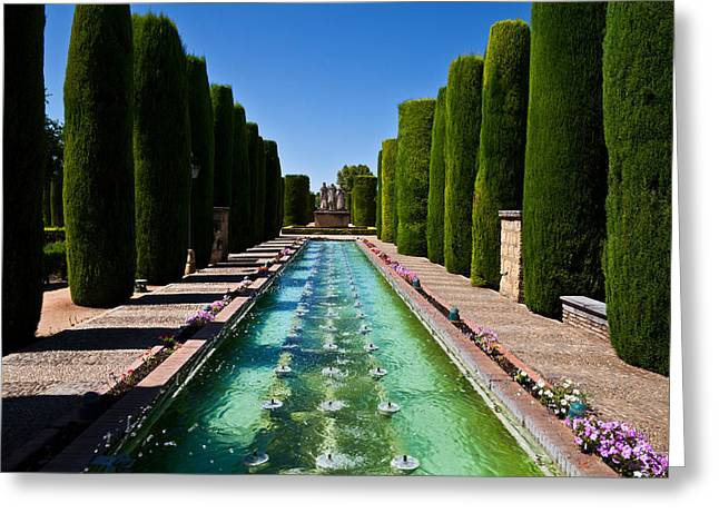 The Gardens Of The Alcazar De Los Reyes Greeting Card by Panoramic Images