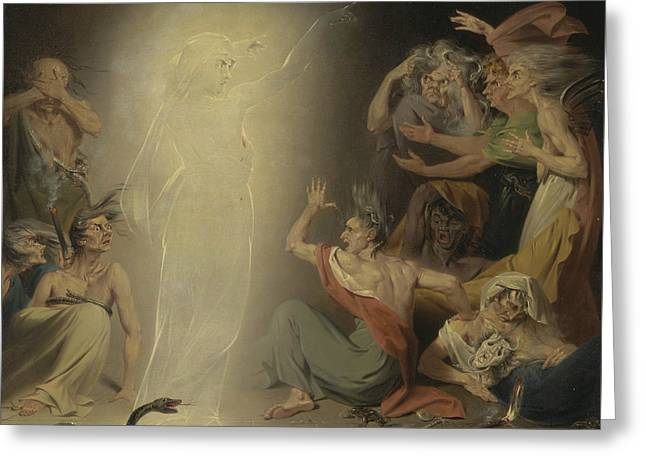The Ghost Of Clytemnestra Awakening The Furies Greeting Card