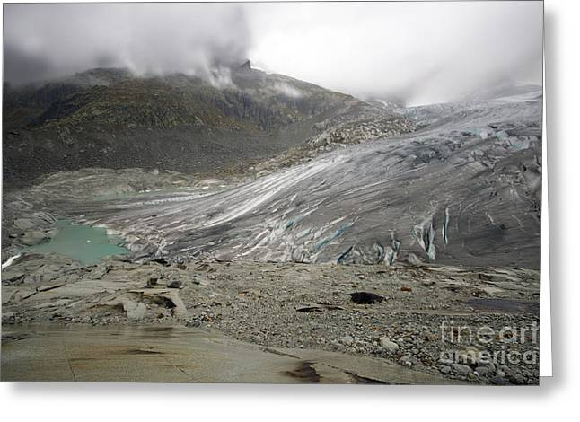 The Glacier Greeting Card by Angel  Tarantella