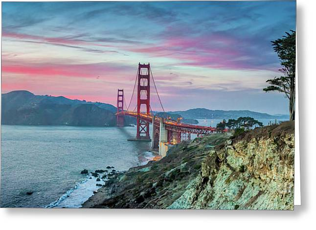 The Golden Gate Greeting Card by JR Photography