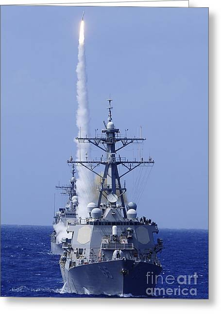 The Guided-missile Destroyer Uss Greeting Card