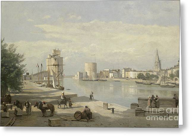 The Harbor Of La Rochelle Greeting Card by Jean Baptiste Camille Corot