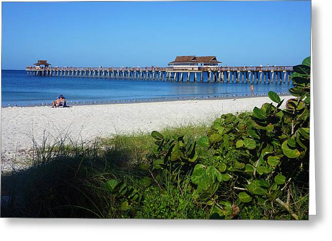 The Historic Naples Pier Greeting Card