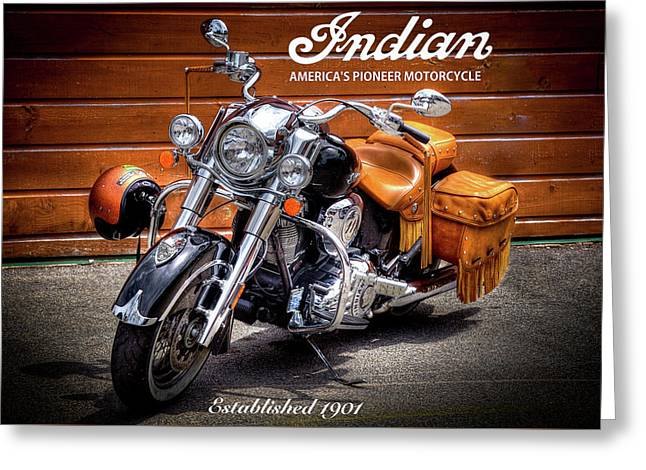 The Indian Motorcycle Greeting Card