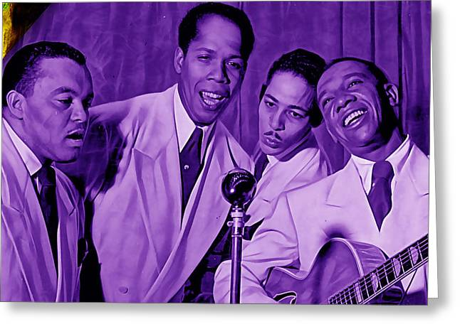 The Ink Spots Collection Greeting Card by Marvin Blaine