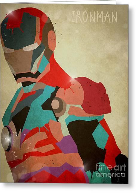 The Ironman Greeting Card by Bri B