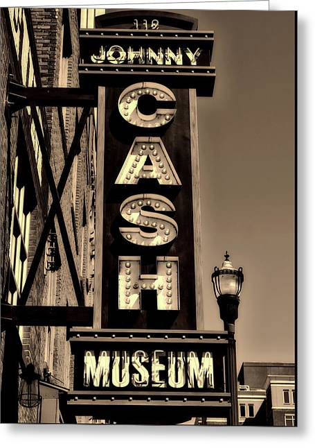 The Johnny Cash Museum - Nashville Greeting Card