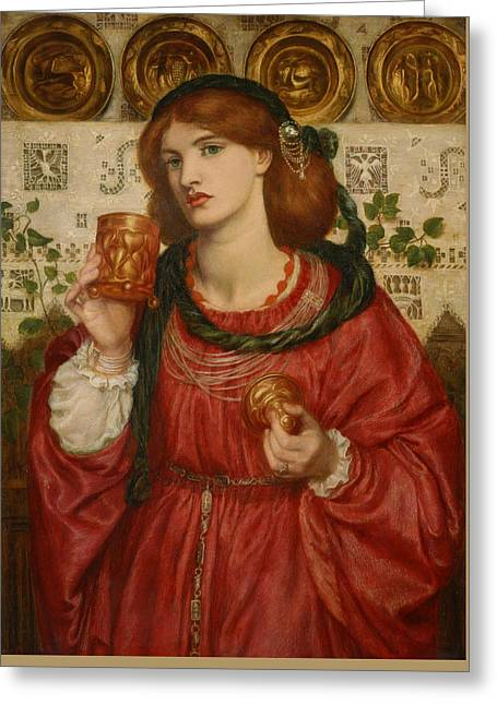 The Loving Cup Greeting Card by Dante Gabriel Rossetti