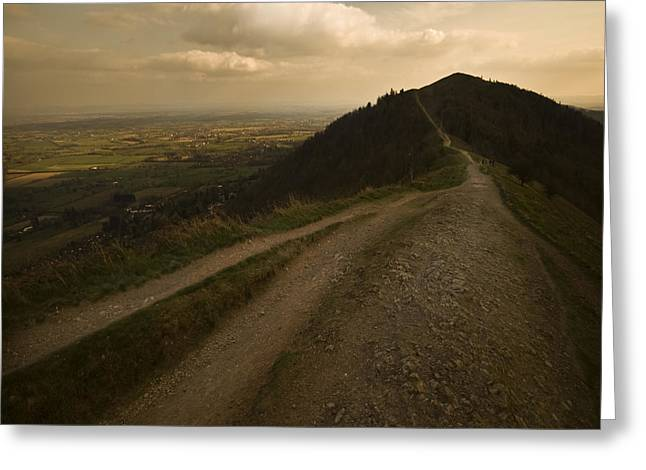 The Malvern Hills Greeting Card by Angel Ciesniarska