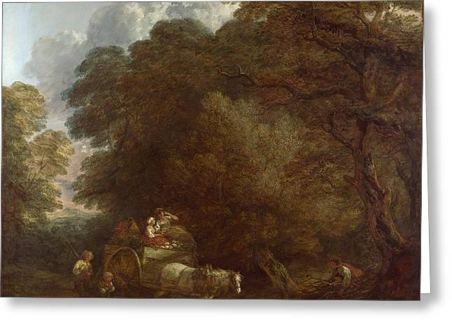 The Market Cart Greeting Card by Thomas Gainsborough