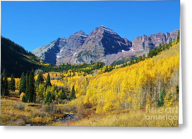 Greeting Card featuring the photograph The Maroon Bells by Kate Avery