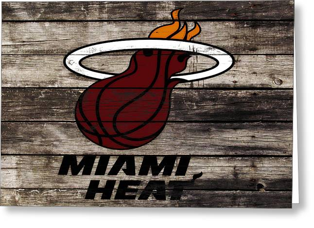 The Miami Heat Greeting Card by Brian Reaves