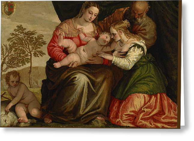 The Mystic Marriage Of St. Catherine Greeting Card by Paolo Veronese