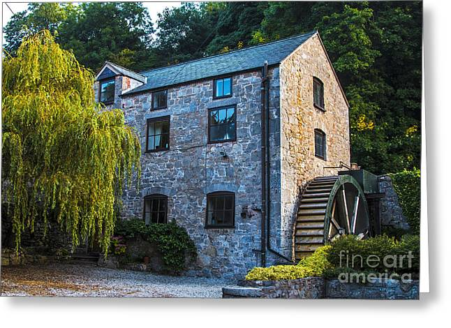 The Old Water Mill Greeting Card by Chris Evans