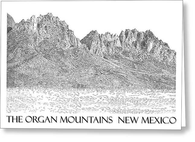 Greeting Card featuring the painting The Organ Mountains by Jack Pumphrey