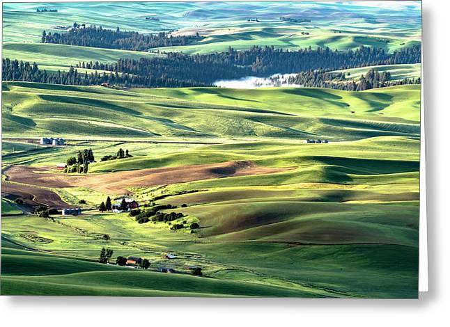 Greeting Card featuring the photograph The Palouse by Joe Paul