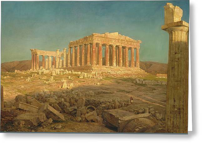 The Parthenon Greeting Card by Frederic Edwin Church