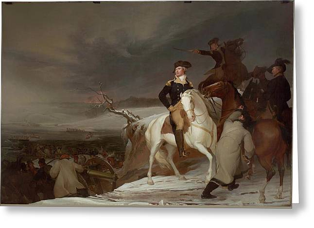 The Passage Of The Delaware Greeting Card by Thomas Sully