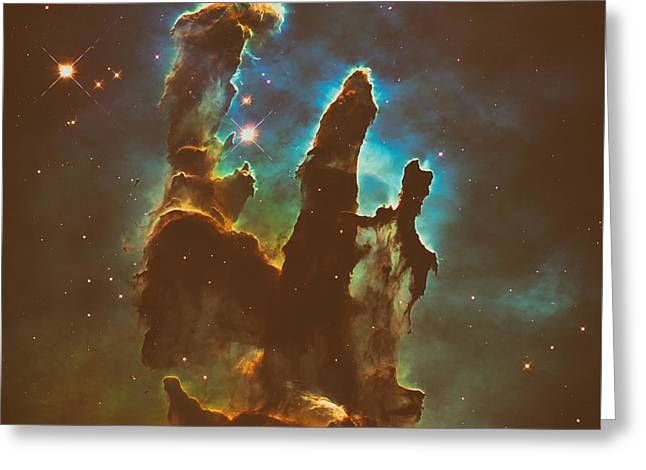 The Pillars Of Creation Greeting Card by Mountain Dreams