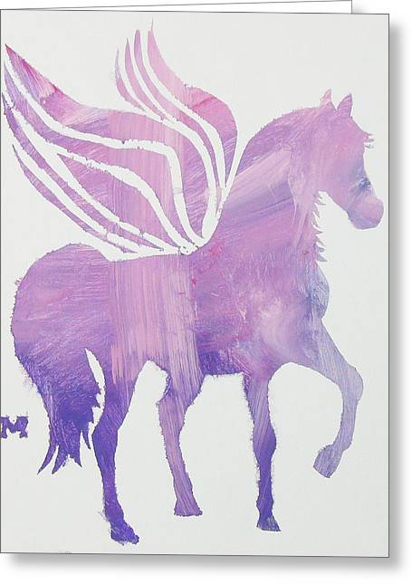 The Pink Pegasus Greeting Card