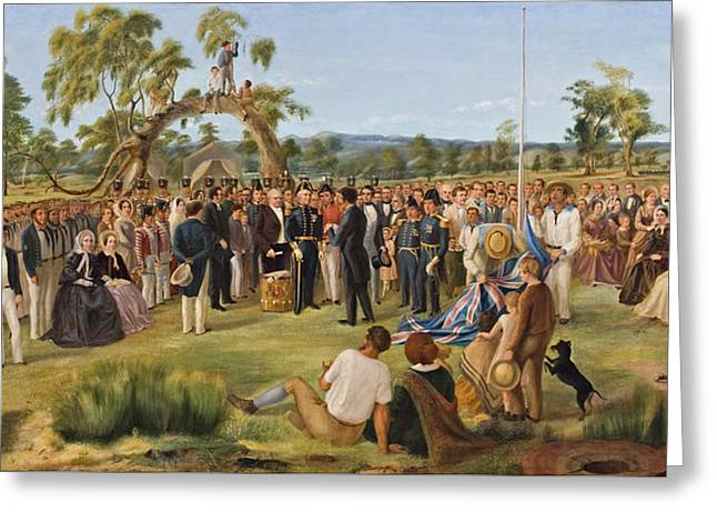 The Proclamation Of South Australia 1836 Greeting Card by Mountain Dreams