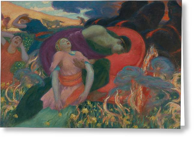 The Rape Of Persephone Greeting Card by Rupert Bunny