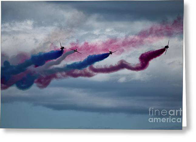 The Red Arrows Greeting Card by Nichola Denny