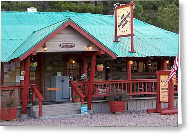 Greeting Card featuring the photograph The Rendezvous Diner by Juls Adams