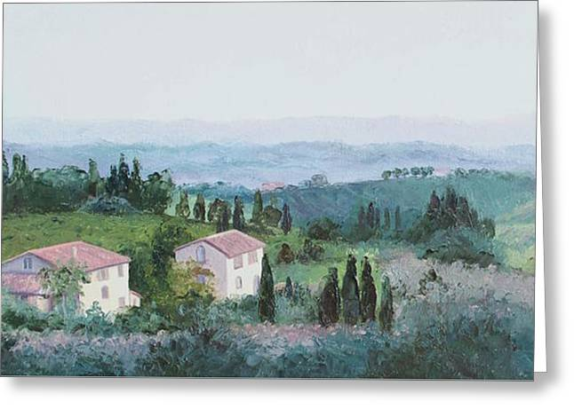 The Rolling Hills Of Tuscany Greeting Card by Jan Matson