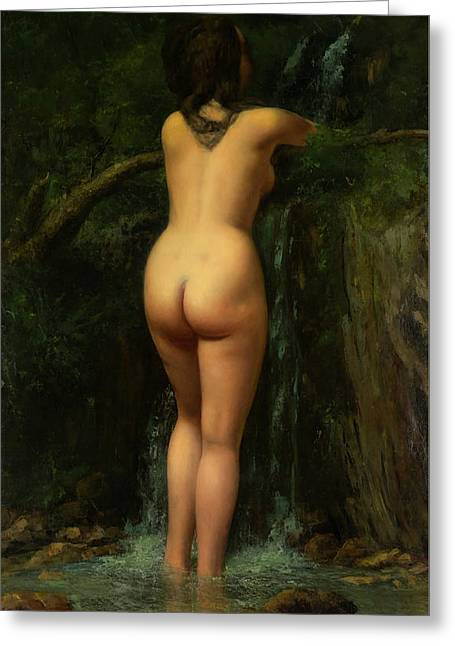 The Source  Greeting Card by Gustave Courbet