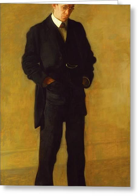 The Thinker - Portrait Of Louis N Kenton Greeting Card by Thomas Eakins
