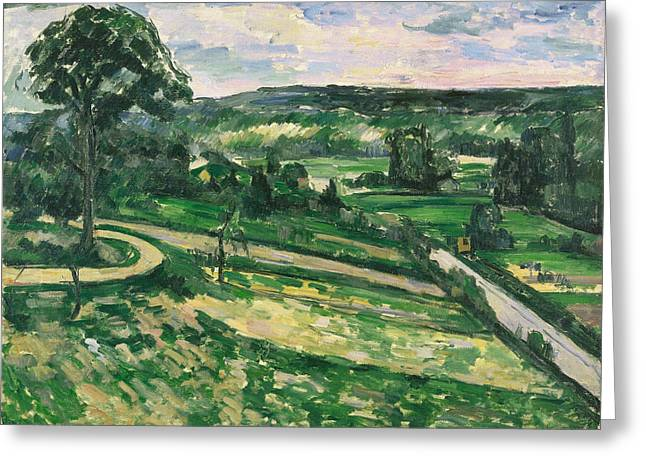 The Tree By The Bend  Greeting Card by Paul Cezanne