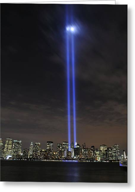 Ground Zero Greeting Cards - The Tribute In Light Memorial Greeting Card by Stocktrek Images
