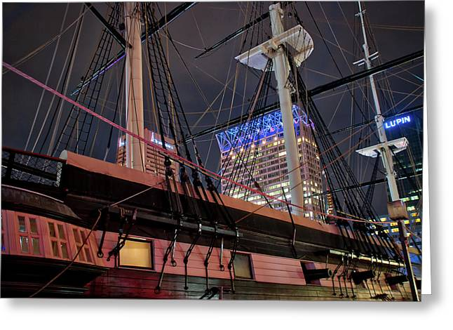 Greeting Card featuring the photograph The Uss Constellation by Mark Dodd
