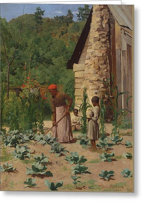 The Way They Live Greeting Card by Thomas Pollock Anshutz