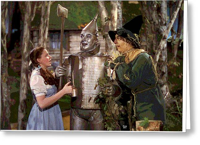 The Wizard Of Oz Greeting Card by Charles Shoup