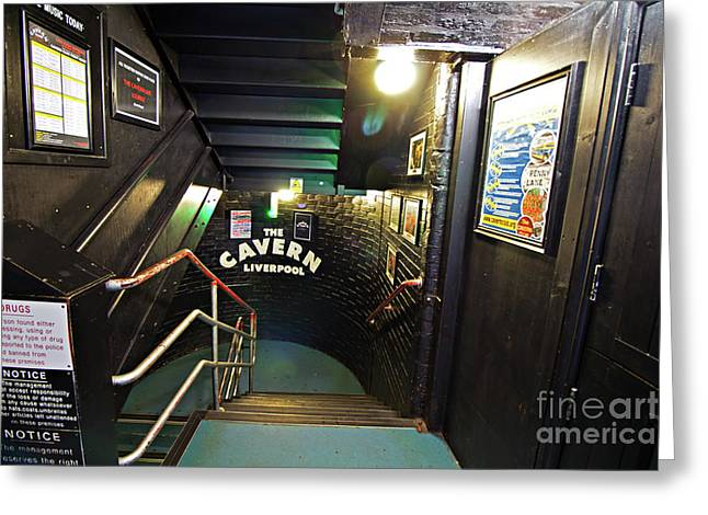 The World Famous Cavern Club In Mathew Street Liverpool. Greeting Card