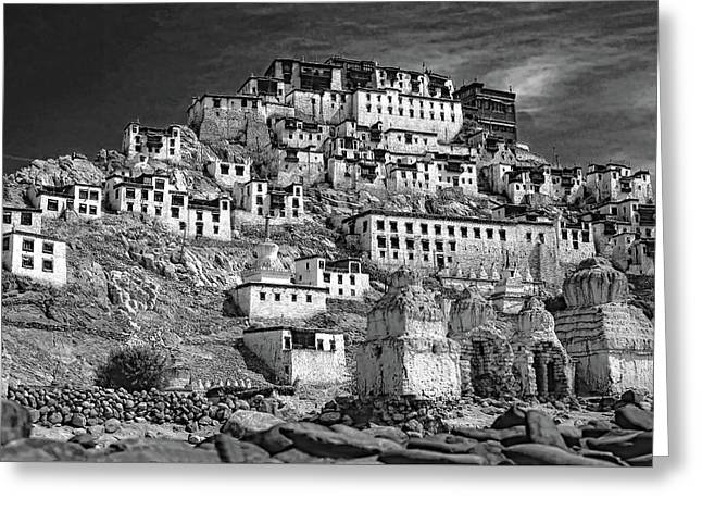 Thiksey Monastery Greeting Card by Steve Harrington