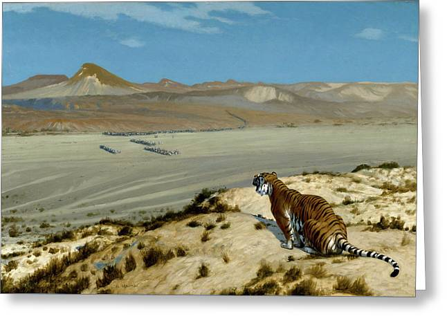 Tiger On The Watch Greeting Card