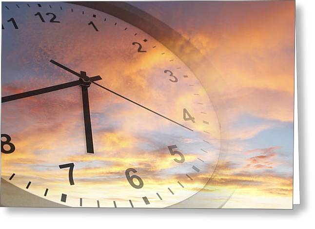 Time Passing Greeting Card by Les Cunliffe